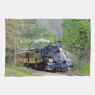 Steam Train Locomotive Railway Enthusiast Art Kitchen Towel