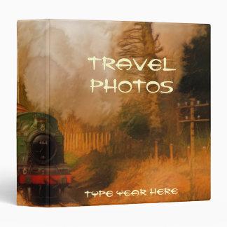 Steam Train Locomotive Travel Photo Album (Binder) 3 Ring Binder