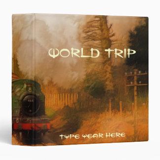 Steam Train Locomotive World Trip Photo Album Binder
