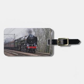 Steam Train Luggage Tag
