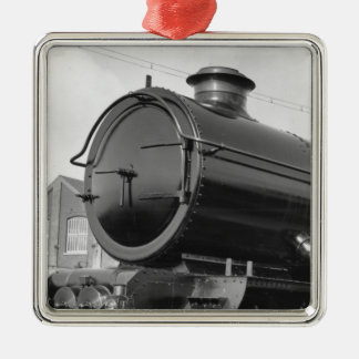Steam Train Metal Ornament