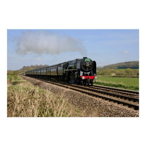 """Steam Train """"Oliver Cromwell"""" Poster"""