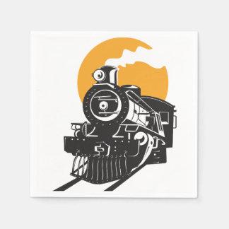 Steam Train Paper Napkins