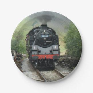 Steam Train Paper Plates