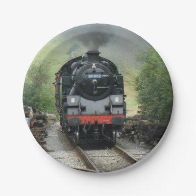 sc 1 st  Zazzle & Vintage Train Paper Plate | Zazzle.com