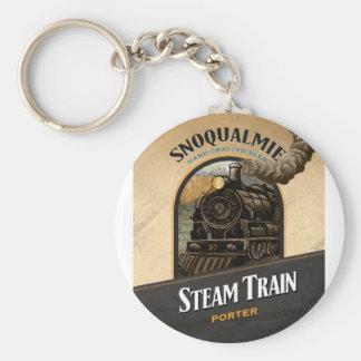 Steam Train Porter Basic Round Button Keychain