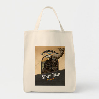 Steam Train Porter Tote Bag
