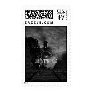 Steam Train Postage Stamp
