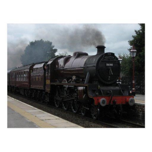 Steam train - Postcard