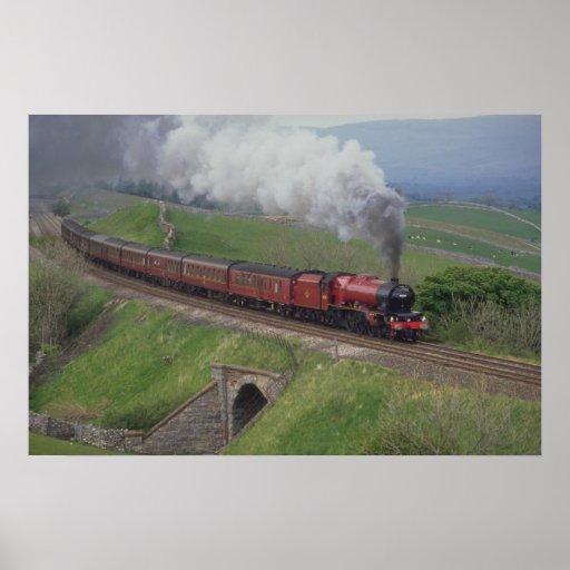 Steam train poster