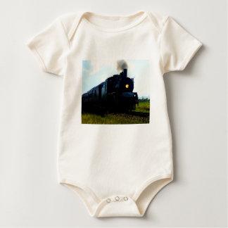 STEAM TRAIN QUEENSLAND AUSTRALIA BABY BODYSUIT