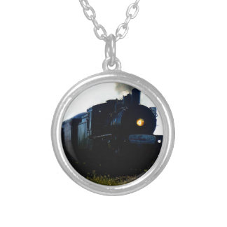 STEAM TRAIN QUEENSLAND AUSTRALIA SILVER PLATED NECKLACE
