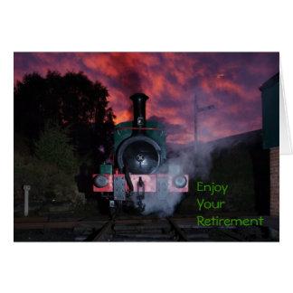 Steam Train Retirement Card