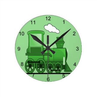 Steam Train Round Clock