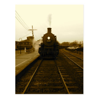 Steam Train Sepia Art Photograph Postcard
