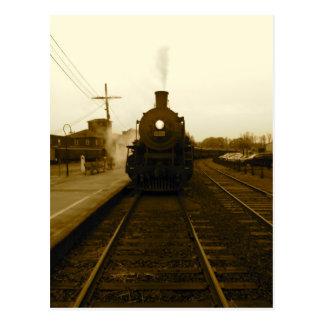 Steam Train Sepia Art Photograph Postcard