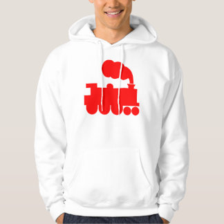 Steam Train Symbol - Red Hooded Pullover