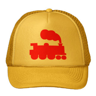 Steam Train Symbol - Red Trucker Hat