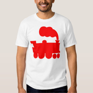 Steam Train Symbol - Red Tshirts