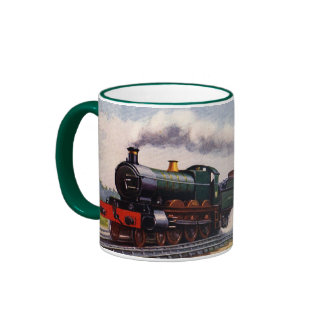 Steam Train - The Fishguard Boat Express Ringer Coffee Mug