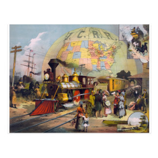 steam-train-travel-collage post cards