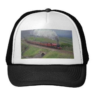 Steam train trucker hat