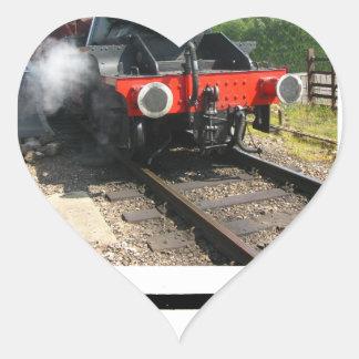 Steam train, vintage railway engine heart sticker