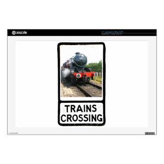 """Steam train, vintage railway engine skin for 17"""" laptop"""