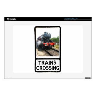 Steam train, vintage railway engine skins for laptops