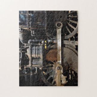 Steam Train Wheels Jigsaw Puzzle