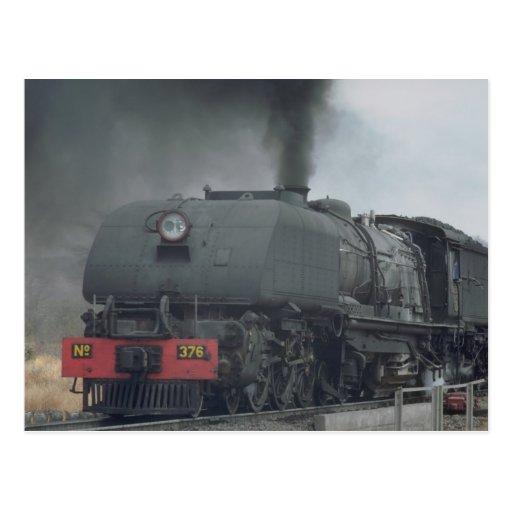 Steam train, Zimbabwe Postcard