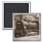 Steam trains 2 inch square magnet