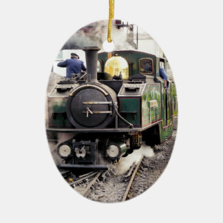STEAM TRAINS CERAMIC ORNAMENT