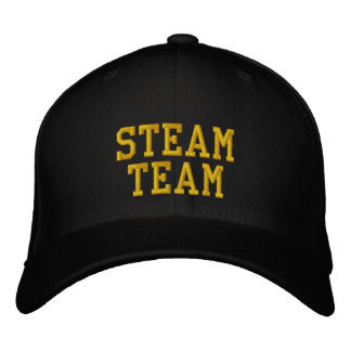 STEAM TRAINS EMBROIDERED BASEBALL CAP