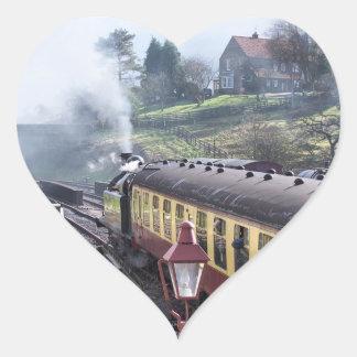 STEAM TRAINS HEART STICKER