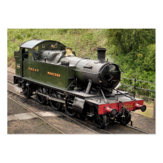 STEAM TRAINS LARGE BUSINESS CARD