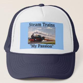 """Steam Trains, """"My Passion"""" Trucker Hat"""