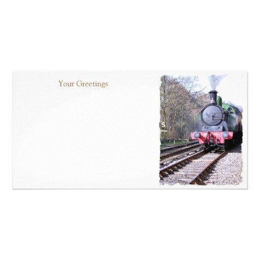 STEAM TRAINS PHOTO CARD