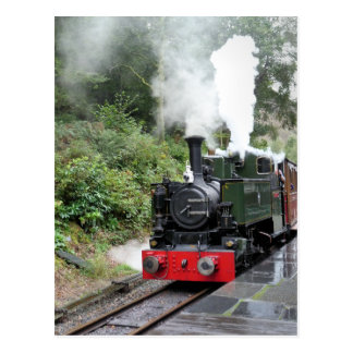 STEAM TRAINS POSTCARD