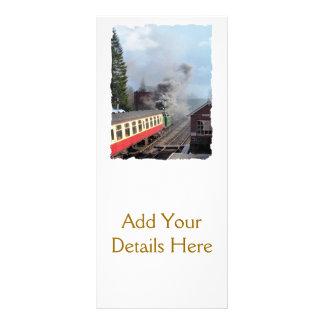 STEAM TRAINS RACK CARD