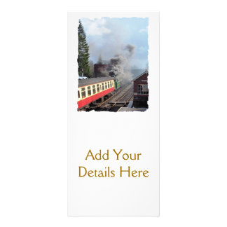 STEAM TRAINS PERSONALIZED RACK CARD
