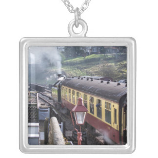 STEAM TRAINS SILVER PLATED NECKLACE