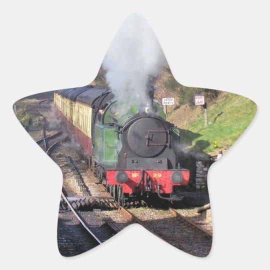 STEAM TRAINS STAR STICKER