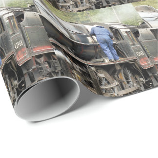 STEAM TRAINS WRAPPING PAPER