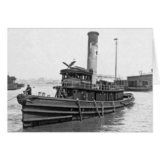 Steam Tug 1905 Card
