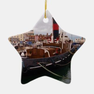 Steam Tug Cervia Double-Sided Star Ceramic Christmas Ornament