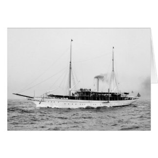 Steam Yacht Emerald, early 1900s Card