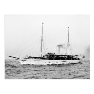 Steam Yacht Emerald, early 1900s Postcard
