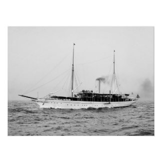 Steam Yacht Emerald, early 1900s Poster