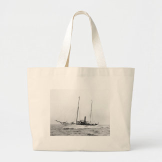Steam Yacht North Star, early 1900s Large Tote Bag